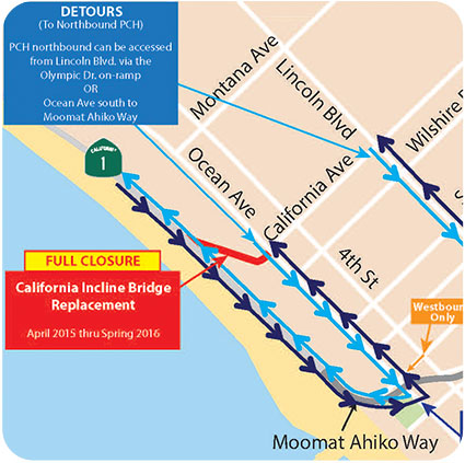 CA incline closure